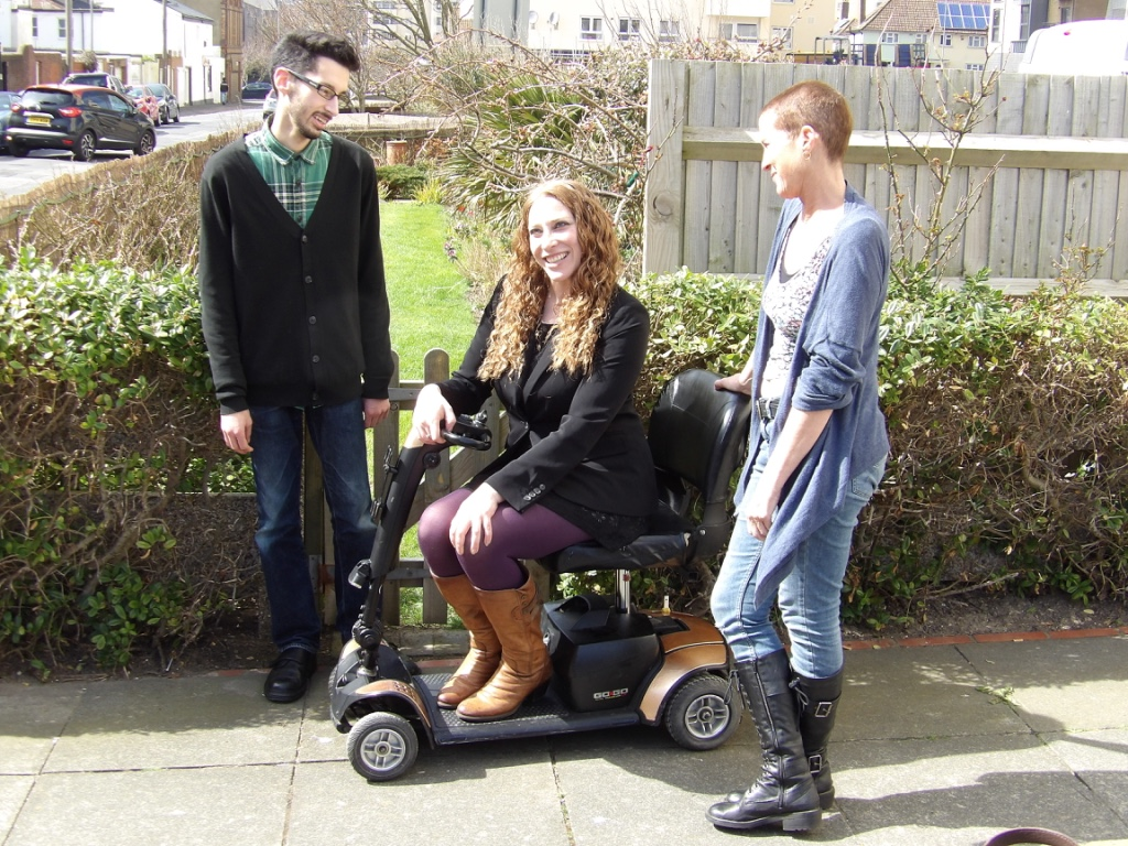 Disabled woman and PA